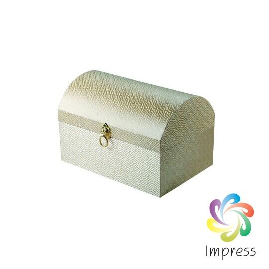 Silk fabric paper jewelry box